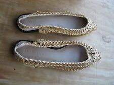 New ASOS Shoes Design Lively Slingback Ballet Flats in UK 6 Natural Color