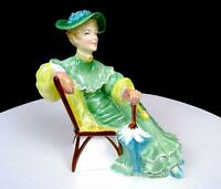 """ROYAL DOULTON SIGNED #HN2356 ASCOT LADY IN GREEN DRESS 5 3/4"""" FIGURINE 1968-1995"""