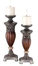 Ok Lighting Ok-4190C 13/16Inh Candle Holder Set Set Of 2 Brown New