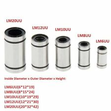 3D Printer LM6UU/LM8UU/LM10UU/LM12UU/LM20UU Linear Bearing 6/8/10/12/20mm Shaft