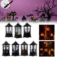 Halloween Lantern Pumpkin Decorative Decor LED Lights Prop Home Party Y2N5