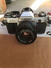 Vintage Canon AE-1 35mm SLR Film Camera 50 MM Lens See Description