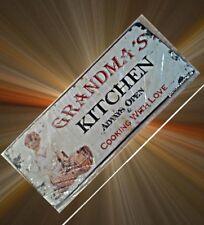 Wandschild Küchen Eisen Omas Küche Vintage Blech Haus+Hof Reklame Werbung Sammel