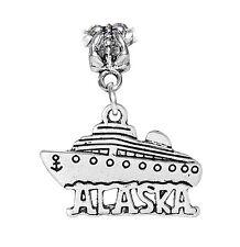 Alaska Cruise Ship Travel Alaskan Vacation Dangle Charm for European Bracelets