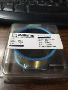 Williams Gold Bonding Wire 99.99% AU | Round .0013'' Diameter | 280 Feet