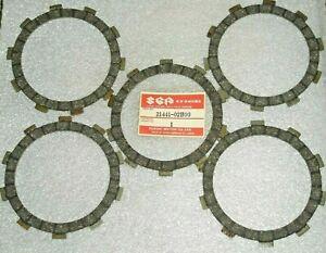 1986-1995 Suzuki RM80 RM 80 MX Clutch Drive Plate/Disk Set(5)OEM NOS 21441-02B00