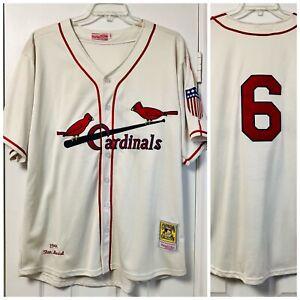 Mitchell & Ness 1944 Stan Musial St. Louis Cardinals Baseball Jersey Size 54