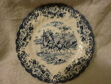 VINTAGE JOHNSON BROS. COACHING SCENES DESSERT PLATE-HUNTING COUNTRY