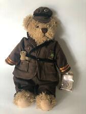 "Rare Ganz Good Luck  Brown Bear Military Deployment Toy Irish Shamrock 14"""