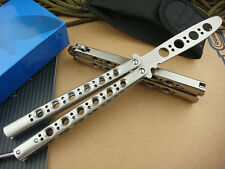 New Practice Balisong Butterfly Knife Style Metal Trainer Tool With Sheath K040