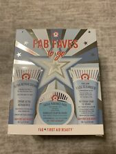 FIRST AID BEAUTY Fab Faves To Go 3 Pc Set Radiance Pads, Cleanser & Repair Cream