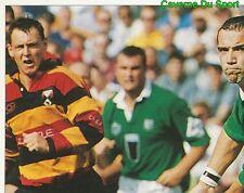253 CONOR O'SHEA LONDON IRISH 1/4  STICKER PREMIER DIVISION RUGBY 1998 PANINI