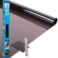 Black Solar Film Window Tint Car Van Limo Reduce Sun Glare Universal 300 x 50cm