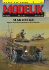 Sd.Kfz. 250/1 light armoured halftrack 1:25 paper model kit 18cm long