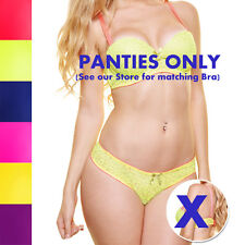 Lot of Women Neon Animal Print Bikini Panties Underwear Lime Orange Yellow Blue