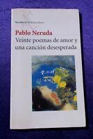 LIBRO LITERATURA PABLO NERUDA VEINTE POEMAS DE AMOR .. SEIX BARRAL BREVE