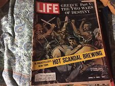 Life  Magazine April 5 1963 {Greece Part V :The Two Wars of Destiny} back issue