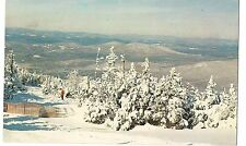 Short Ride on SKI LIFT Snowy Snow Scene  Winter New Hampshire NH Postcard