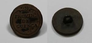 Antiguo Boton 1ª GUERRA CARLISTA (1833-1840) Milicia Regional de Cuenca, Reg. 29