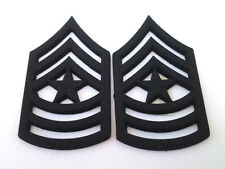 1 PAIR (2) US ARMY RANK E9 SGT. MAJ Military Veteran Hat / Collar Pins P12757 EE