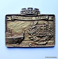 Cacciamine Sapri M5551 - Old Italian Navy Ship Tampion Plaque Badge Crest