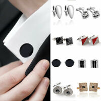 Men Business Formal Wedding Cuff Button Alloy Shirt Cufflinks Jewelry Gift 07AU