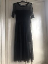 H & M Ladies Black Netted Dress , Stunning , lined , Size 8/10