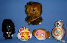 Star Wars Plush Chewbacca-BB 8-Darth Vader-Princess Leia-Luke Skywalker bird-LOT