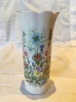 "Vintage Aynsley Fine Bone China 'Wild Tudor' Vase Approx5.2"" Tall"