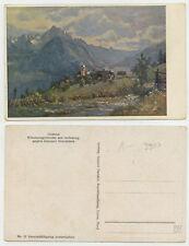 49931 - Schutzengelkirche am Iselsberg - alte Künstlerkarte