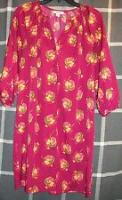 #3 Sz M NWT Tucker for Target Floral Button Front 3/4 Sleeve Peasant Shift Dress