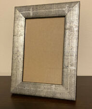 Martin Aborn Italian  Wood Frame Handfinished Silver/Black  Color Size 4 X 6
