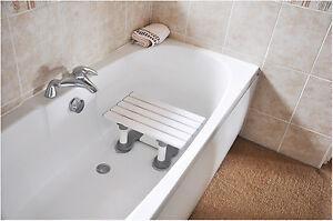 Aidapt Medina Plastic Slatted Bath Shower Seat Bathing Stool Mobility Aid