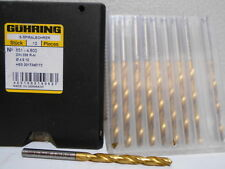 Box of 10 New Guhring 4.8mm Drill bits 651-4,800 DIN 338 R-N