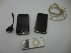 2 Apple iPhone 1st Generation - 8GB,Silver 16gb Black, Ipod 4gb all not working