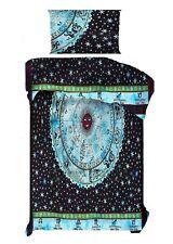 Zodiac Sunsign Design Sky-Blue Color Duvet Cover Twin Size Cotton Bedcover Quilt