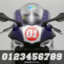 Numeri gara adesivi per moto auto racing sticker corse bike kart pegatinas