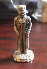 """Vintage 1987 Cuter Pewter Train Engineer Man Figurine 2"""" Tall"""