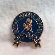 Myers Middle School Mustangs lapel Pin