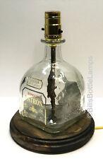 PATRON REPOSADO TEQUILA Liquor Bottle TABLE LAMP Light with Wood Base Bar Lounge