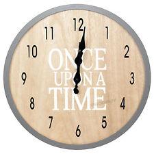 32 Cm Reloj Pared Dormitorio Para Niños Grandes De Madera Niños Érase una vez Shabby Chic