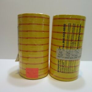 Monarch 1100 Series Senso Labels CLEARANCE Yellow & Red Store Tag x 20 Rolls