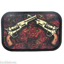 Buckle Gürtel Gürtelschnalle Guns´n Roses Guns and Roses auf Holz