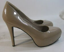 "Skintone 5"" High Stiletto Heel 1.5"" Platform Sexy Shoes Size 10"