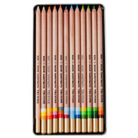 Koh-I-Noor Tri-Tone Colored Pencil Set of 12 - Assorted Colors