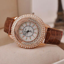 HOT Luxury Diamond Rhinestone Watch Women Casual Leather Quartz Wristwatch