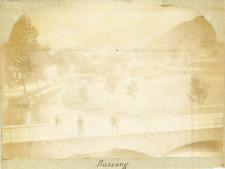 France, Vosges, Militaires à Bussang, ca.1898 vintage citrate print Vintage citr