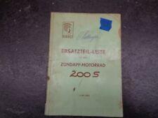 Zundapp 200S 200 S  Parts List  Manual    #29  1054