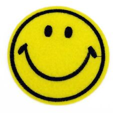 Large Smiley face Smile Sew on Patch Bags Jeans Clothes Plain yellow