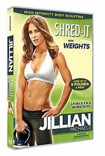 Jullian Michaels Shred It With Weights Levels 1 And 2 Workouts DVD UK Rel New R2